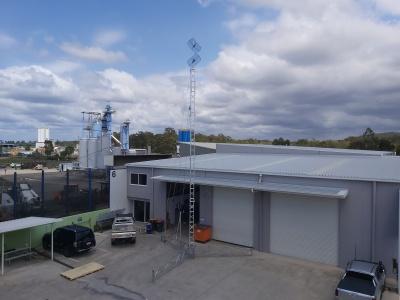 Remote communications, antennas, parabolic grid, Lattice tower, 30m, 40m, 50m, lattice tower