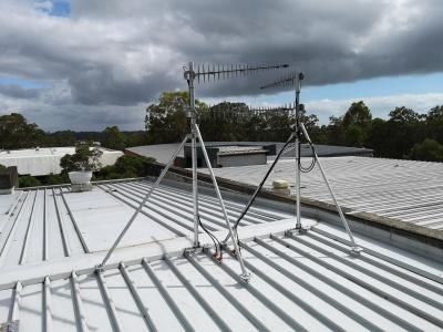 roof mast, 2m 3m, DAS system, communications, antennas, powertec