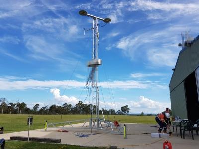 AL340 Aluminium Tripod Tower setup complete