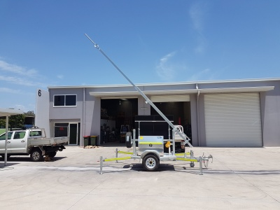 communications trailer, mine site coms, repeater trailer.