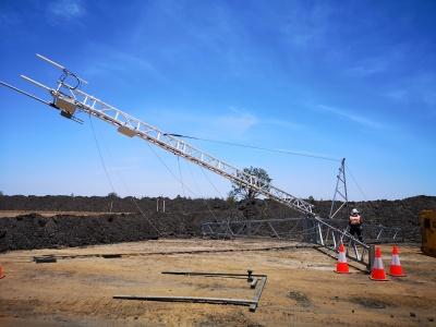 aluminium lattice tower, freestanding, serviceable, portable communications, mining