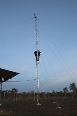 Aluminium lattice tower, remote monitoring. communications, ptp, Airbridge Networks