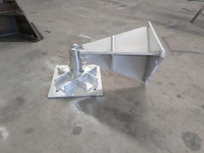 Hinged AL340 lattice tower base, fold down billet.