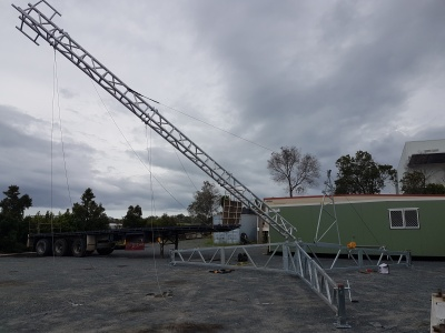 Aluminium lattice tower, remote monitoring. communications, ptp,