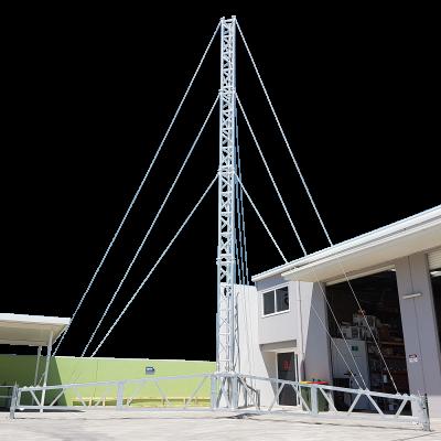 AL500 Tripod Lattice Tower, Aluminium & Galvanised Steel, 14m
