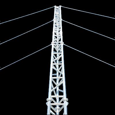 AL500 aluminium guyed lattice tower, manufactured in Queensland