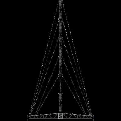 21 metre tripod tower portable lattice system