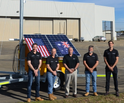 Trailers with USA Insitu team