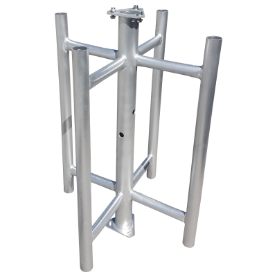 four sector cluster mount for AT90 aluminium monopoles