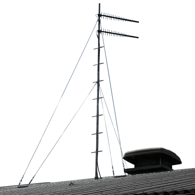 climbable galvanised roof mast six metres