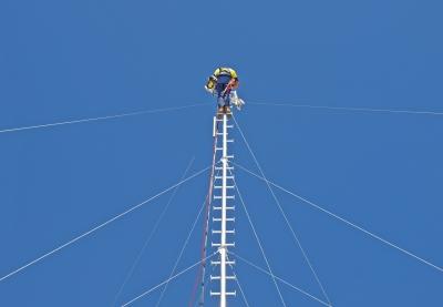 AT90 aluminium mast with foot pegs