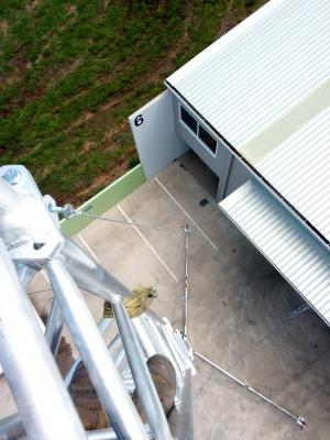 aluminium lattice tower, tripod, antenna, telecommunications