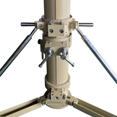 Close up of AIR1200T tripod levelling mechanism