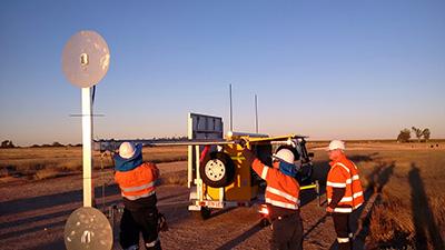 UAS trailer undergoing deployment