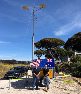 UAV airspace monitoring communications trailer in Spain
