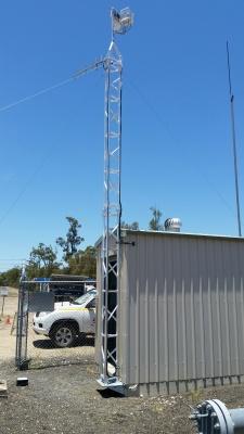 aluminium lattice tower 30m communications, antennas