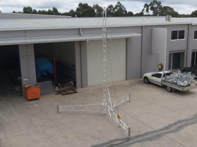 Aluminium tripod lattice tower, 8m remote communications