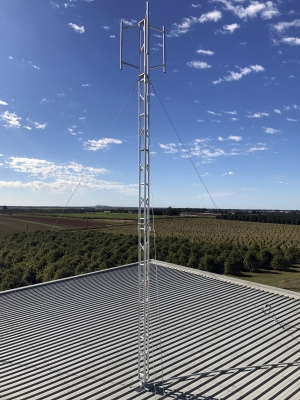 9 metre AL220 aluminium tower with sector mount