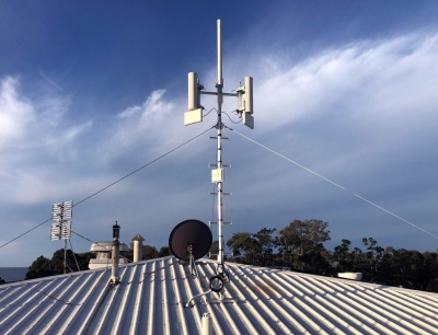 5m AT60 pegged mast with Cambium wireless ISP