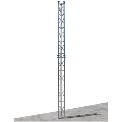 Al340 Aluminium Free Standing Lattice Tower Fabrication