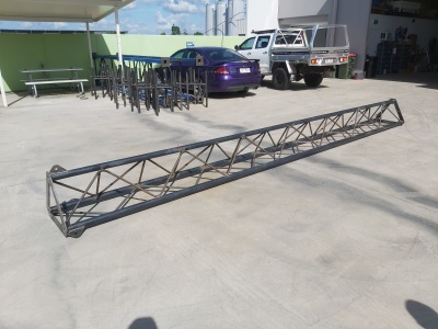 galavised lattice tower section ready for galvanising