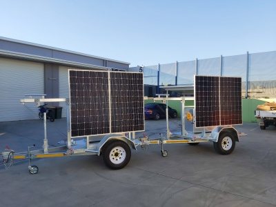 communications trailer, mine site coms, repeater trailer, antenna trailer.