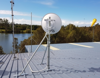 GC48 Roof Mast Installed on Tin Roof
