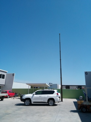 pneumatic mast, communications, antennas