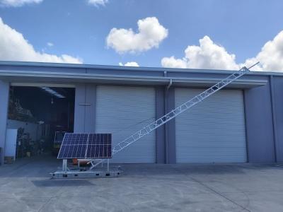 APAC Hinged communications skid, 3m, 7m, 10m, aluminium lattice tower. Queensland