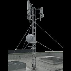 three metre aluminium roof tower