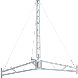 AL220 4.7 metre tripod lattice tower aluminium guyed