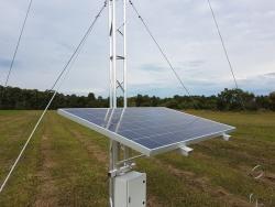 Aluminium lattice tower solar mount, queensland, mining, offgrid