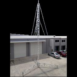 14m temporary tower portable tripod lattice mast