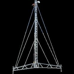 heavy duty portable lattice tower tripod mast