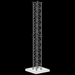 Galvanised square lattice tower, four-leg design