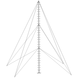 climbable pegged aluminium monopole guyed mast