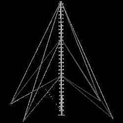 climbable pegged aluminium monopole