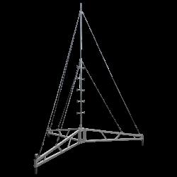 climbable aluminium tripod guyed mast
