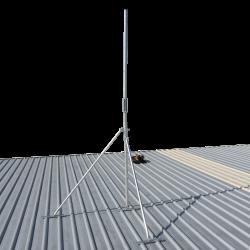 Hinged galvanised pole serviceable roof mast