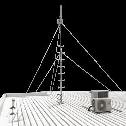 guyed aluminium roof mast climbable pole