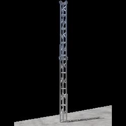 free standing aluminium lattice tower