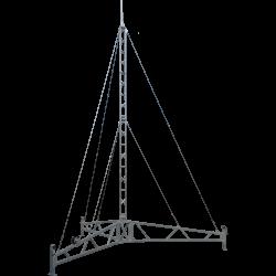 portable tripod tower lattice guyed mast