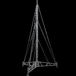 portable lattice tower tripod guyed mast
