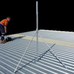 Galvanised tin roof mount steel roof mast