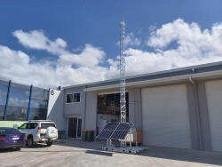 APAC Hinged communications skid, 3m, 7m, 10m, skid mounted mast. Queensland