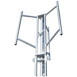 tri-sector masthead for aluminium tower cluster mount