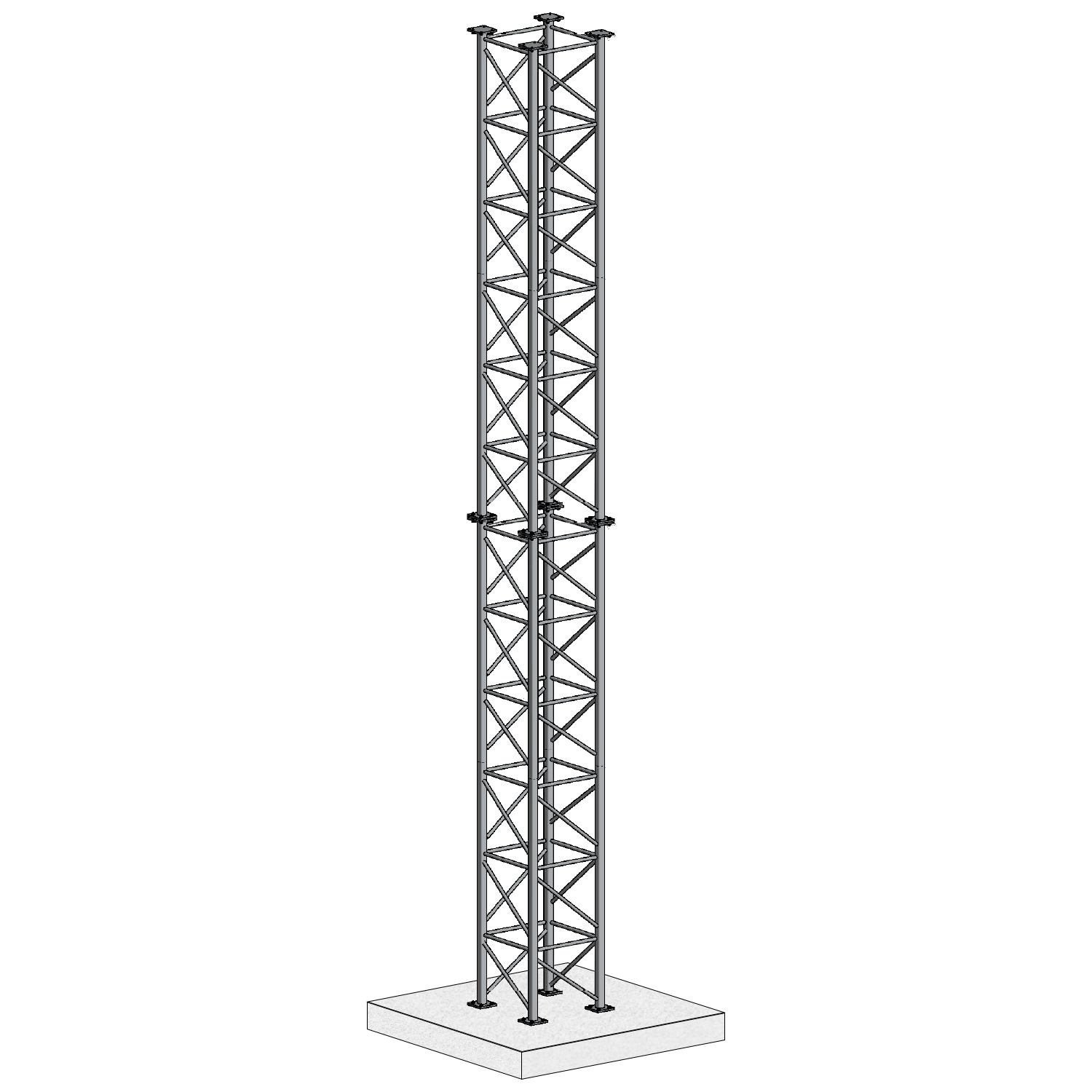 GT1000 Galvanised Free-Standing Lattice Tower | Fabrication