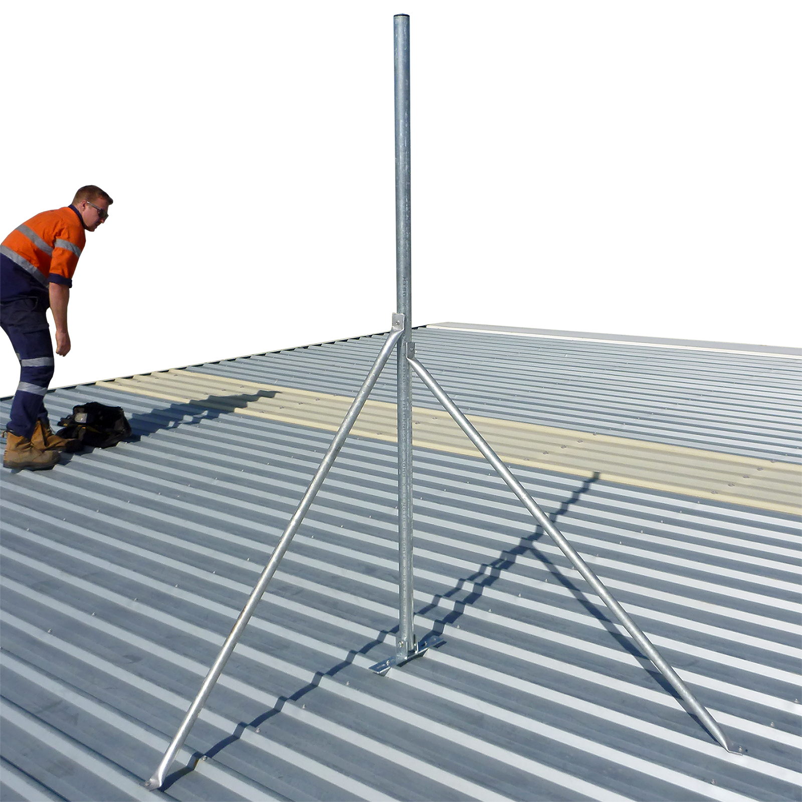 B48 Budget Roof Mast 48 Mm Galvanised Steel